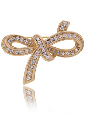 Aphrodite's Crystal Ribbon Brooch 83013