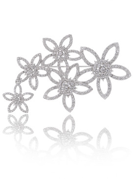 Blooming Crystal Flower Brooch  | Brooches