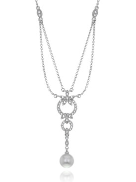 Diane's Crystal Pearl Drop Necklace 4 | Necklaces