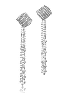 Yvonne's Crystal Lariat Earrings  | Earrings
