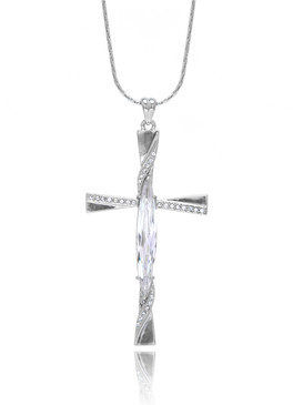 Intricate CZ Cross Pendant Necklace  | Pendants