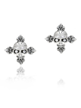 CZ Skull Design Cross Earrings  | Earrings