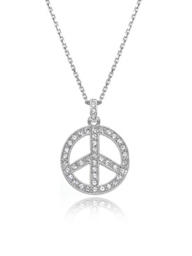 Peace Sign Crystal Pendant, Wholesale Fine Fashion Jewelry & Prom Accessories | Shop JGI Jewelry