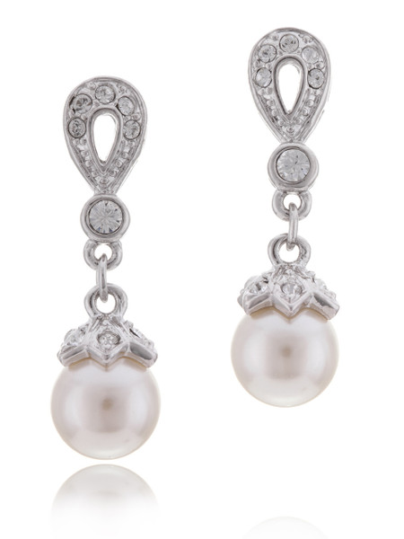 Crystal Pearl Drop Bridal Earrings Bridesmaid Accessories Whole Wedding Jewelry Jgi