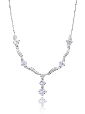 Floral CZ Necklace, Cubic Zirconia Bridal Jewelry & Wholesale Wedding Accessories | Shop JGI Jewelry