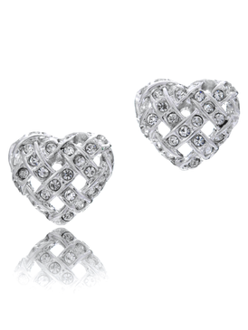 Beautiful crystal heart earring
