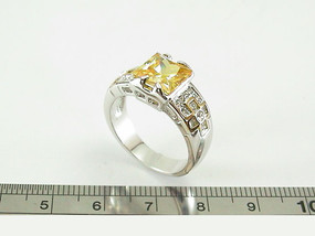 Designer Inspired Square CZ Ring 10346