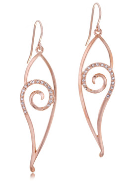 Long Curve Crystal Earring, 21269