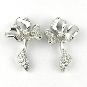 CZ Shamrock Clover Earring | JGI Wholesale Jewelry