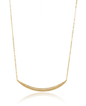 Elegant Curve Exudes Timeless Sophistication, Celebrate Happy Life Necklace 44010