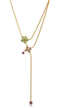 Flower Drop Necklace 44409