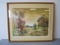 Collectors Guild Lithograph Pencil-Signed Numbered Rivera Autumn Scene