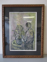 Collectors Guild Lithograph Pencil-Signed Numbered Schreyer Still Life w/Girl