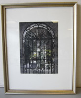 Pencil Signed Numbered David Suff PARADISE COURTYARD Etching #97/200  Framed