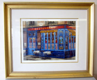 Pencil Signed Numbered Kondakova Serigraph CHEZ JULIEN Paris Large Framed w/COA