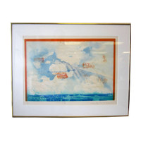 "Pencil-Signed Numbered Moo-Chew Wong Aquatint Etching ""Marine 1"" #23/30"