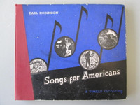 "Earl Robinson ""Songs for Americans"" Set 4 78 RPM Records Timely Recording 8-W"