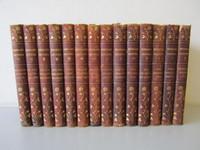 14-Volume Set JOHN STODDARD'S TRAVELS 1908 Complete w/4 Supplements Leather Gold