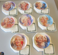 8 Bradford Collector Plates Reflections of Marilyn Monroe Chris Notarile w/COA