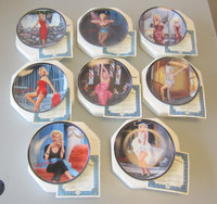 Set 8 Bradford Collector Plates Silver Screen Marilyn Monroe w/COA