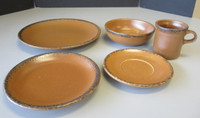 5-Pc Setting McCoy CANYON Mesa Stoneware Dinner Salad Plates Bowl Cup Saucer