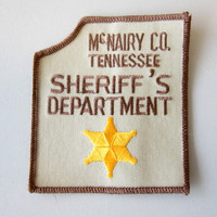 McNairy County Tennessee TN Sheriff Department Shoulder Patch Buford Pusser NOS