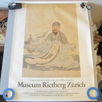 Vintage 1980s Rietberg Museum Zurich Asian Art Exhibition Poster Lithograph