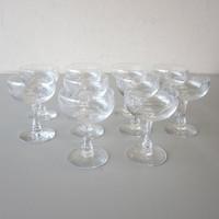 "10 Vintage Signed Fostoria Crystal CAROUSEL Sherbet Champagne Glasses 4-3/4"""