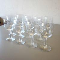 "12 Vintage Signed Fostoria Crystal CAROUSEL Water Goblets 6-3/4"""