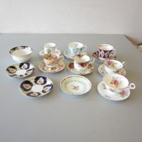 Lot 7 English Bone China Cups Saucer Sets 3-Royal Albert Stafford +Aynsley Bowl