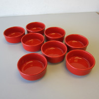 """8 Waechtersbach Solid Colors Red 5-1/4"""" Coupe Soup Bowls"""
