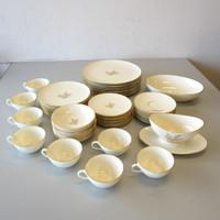 52 Pcs Lenox China Gold Wheat China R442 8 Place Settings Serving Bowl Gravy