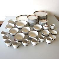 57 Pcs Vintage Selandia Denmark DESIREE Stoneware Dishes Plates Bowls Cups