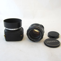 Asahi Pentax Super Multi Coated Takumar 50mm M42 Screw Mount f/1.4 Lens w/ Hood
