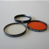 Original Leica Leitz Series VII 7 UVa & Orange Filters w/#14161 Retaining Ring