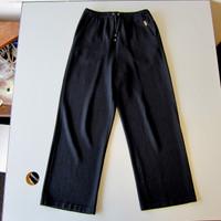 St. John Sport by Marie Gray Black Knit Drawstring Pants Size Small S