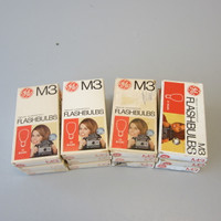 Full Case GE M3 Flashbulbs 12 Packs 144 Bulbs New Old Stock