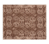 New Pottery Barn BOSWORTH Printed Wool Rug Espresso Brown Cream 8 X 10 NWT