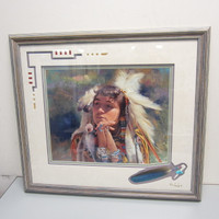 Pencil-Signed Numbered Print Don Crowley PLUMES AND RIBBONS #204/650 Framed