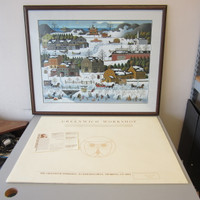 Pencil-Signed Numbered Charles Wysocki HICKORY HAVEN CANAL #1161/1500 Framed