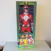 "New in Box Vintage Mega Size 36"" Mighty Morphin Red Power Ranger NIB"