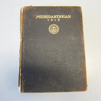 1912 University of Michigan Yearbook Michiganensian Hardcover