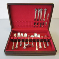 41 Pcs Old Company (IS) Silverplate Flatware 1950 SIGNATURE 4 Settings +Serving