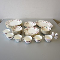 42 Pcs Minton Bone China ANCESTRAL Dinner Salad Plates Fruit Bowls Platter Cups