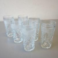 """6 Vintage Cristal D'Arques Durand ANTIQUE Cooler Glasses Tumblers 6-1/8"""""""