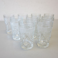 8 Vintage Cristal D'Arques Durand ANTIQUE Highball Glasses Tumblers 5-3/8""