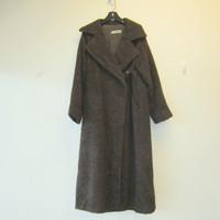 Vintage Original Jil Sander Alpaca Wool Coat Full-Length Brown Size IT 38