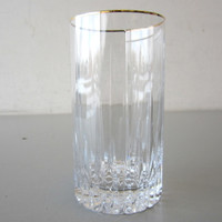 Mikasa Crystal GOLDEN LIGHTS Highball Glass Tumbler Gold Rim Multiple Available