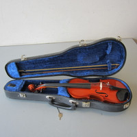 Vtg 1981 Kiso Suzuki 1/4 Size Violin No. 7 Stradivarius New Shar Setup Bow Case