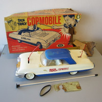 Vintage Ideal Dick Tracy Copmobile Plastic Toy Police Car w/Original Box